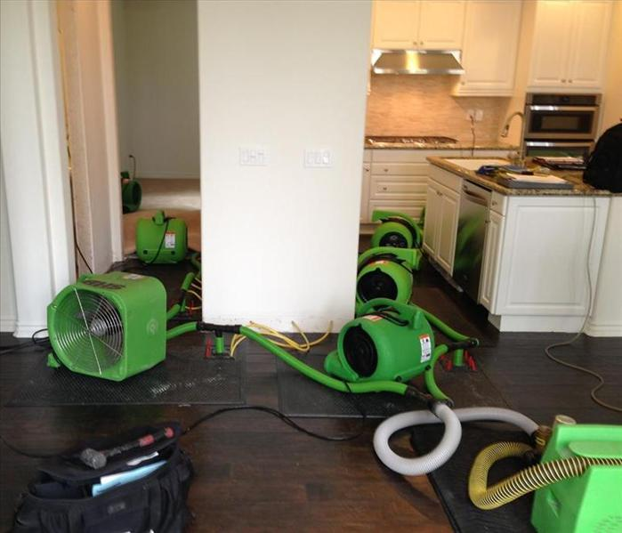 SERVPRO In-place drying- Restore vs. Replace